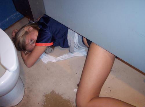 Пьяная девка